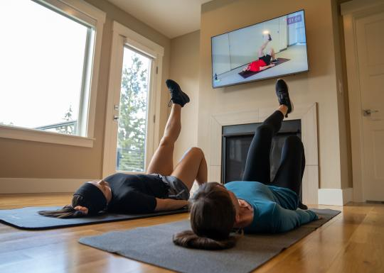 Exercising at home with the YMCA