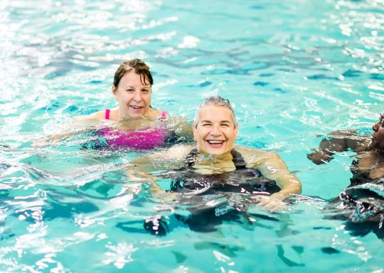 Active Older Adults In The Morgan Family YMCA Pool