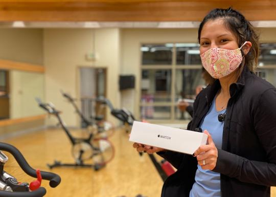 Rosa Earns Apple Watch - YMCA Mobile Rewards