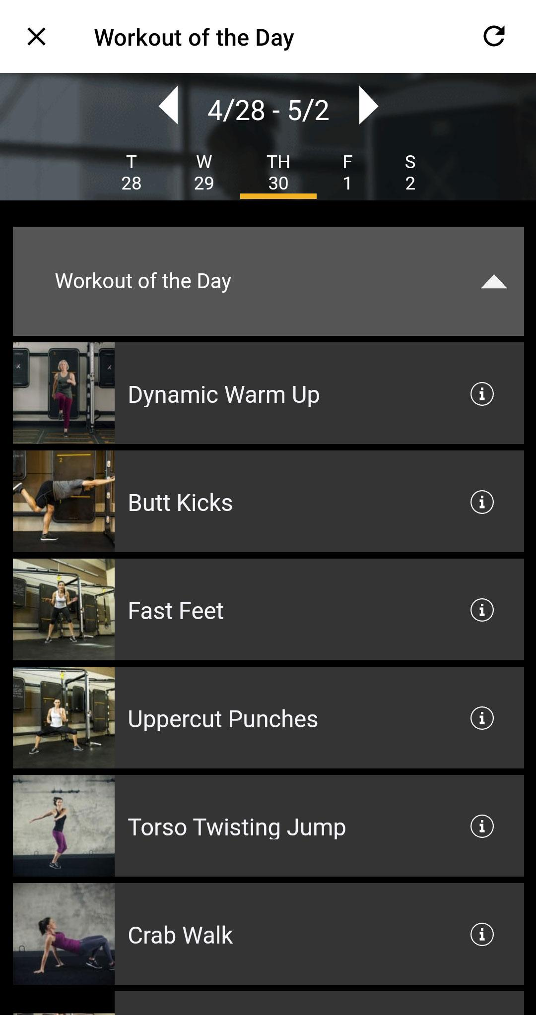 Workout Of The Day Y Mobile App