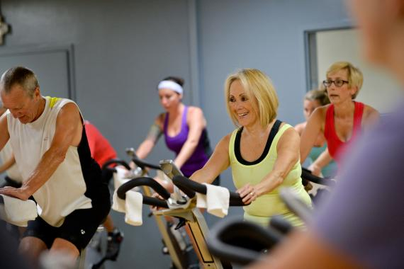 Cycling Group Exercise Class At YMCA