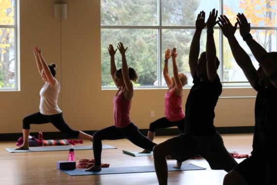 Group Yoga Class At Tom Taylor YMCA