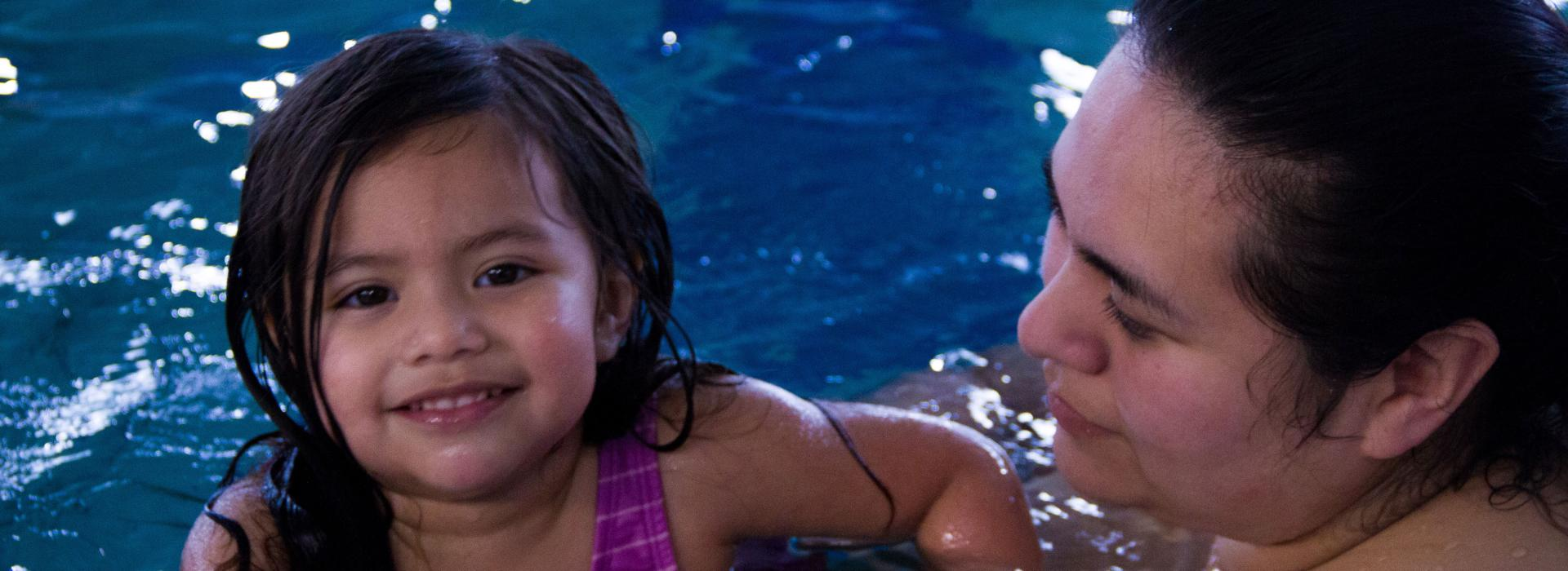 Parent Child Swim At Haselwood Family YMCA